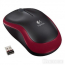 Мышка Logitech Wireless Mouse M185 Red USB (910-002240)