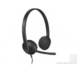 ГАРНИТУРА LOGITECH H340 HEADSET USB (981-000475)