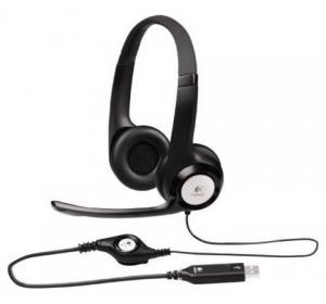 ГАРНИТУРА LOGITECH H390 HEADSET USB (981-000406)