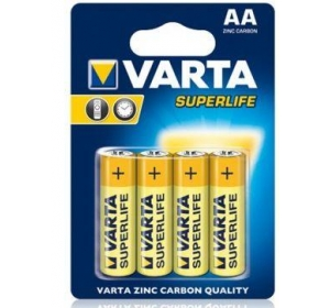 БАТАРЕЙКА VARTA SUPERLIFE AA BLI 4 ZINC-CARBON (02006101414)