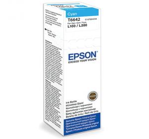 ЧЕРНИЛА EPSON L100/L200 CYAN (C13T66424A) 70 МЛ