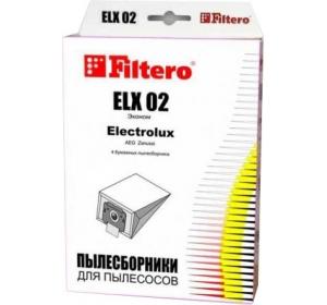 Сменные мешки / пылесборники 4 шт FILTERO Эконом ELX 02 (4)