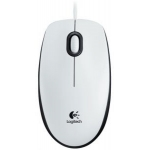 Мышка LOGITECH B100 OPTICAL WHITE USB (910-003360)