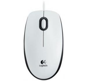 Мышка LOGITECH B100 OPTICAL WHITE USB (910-003360)