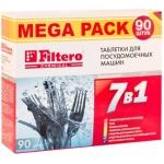 Таблетки  для посудомоечных машин 7 в 1, 90 штук FILTERO РН 002897