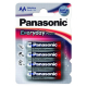 PANASONIC EVERYDAY POWER AA BLI 4 ALKALINE (LR ...