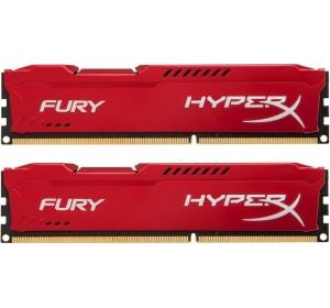 DDR3 2X4 ГБ 1600 МГЦ PC3-12800 KINGSTON HYPERX FURY RED (HX316C10FRK2/8)