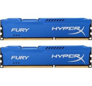DDR3 2X4 ГБ 1600 МГЦ PC3-12800 KINGSTON HYPERX FURY BLU (HX316C10FK2/8)