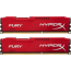DDR3 2x8 ГБ 1866 МГц PC3-14900 Kingston HyperX Fury Red (HX318C10FRK2/16)