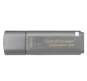 Флеш память USB USB 3.0 KINGSTON 16 ГБ DATATRAVELER LOCKER+ G3 (DTLPG3/16GB)