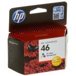HP NO.46 (CZ638AE) (DJ INK ADVANTAGE 2020HC/2520HC) COLOR (C, M, Y)