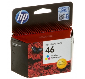 HP NO.46 (CZ638AE) (DJ INK ADVANTAGE 2020HC/2520HC) COLOR (C, M, Y)
