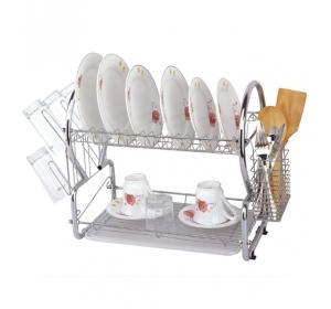 Сушилка для посуды двухъярусная KAMILLE 0768