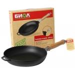 Сковорода чугунная со съемной ручкой 24 см БИОЛ 0124