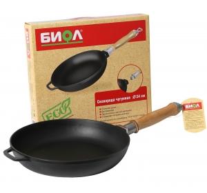 Сковорода чугунная со съемной ручкой 26 см БИОЛ 0126