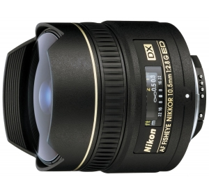 NIKON 10.5 MM F/2.8G IF-ED AF DX FISHEYE NIKKOR (JAA629DA)