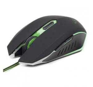 Мышка GEMBIRD MUSG-001-G BLACK\GREEN
