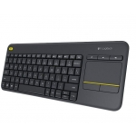 Клавиатура LOGITECH WIRELESS TOUCH KEYBOARD K400 PLUS RUS BLACK (920-007147)