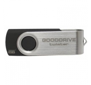 Флеш память USB GOODRAM 16GB TWISTER BLACK USB 2.0 (UTS2-0160K0R11)