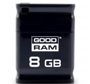 Флеш память USB GOODRAM 8GB PICCOLO BLACK USB 2.0 (UPI2-0080K0R11)