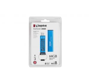 Флеш память USB KINGSTON 64GB USB 3.0 DT 2000 METAL SECURITY (DT2000/64GB)