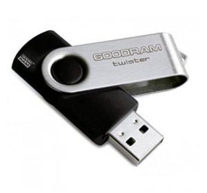 Флеш память USB GOODRAM 8GB TWISTER BLACK USB 2.0 (UTS2-0080K0R11)