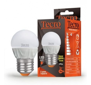 TECRO LED PRO-G45-5W-3K-E27 5W 3000K E27