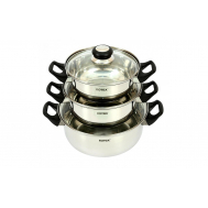 Набор посуды ROTEX RC011-6S Bergamo