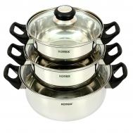 Набор посуды ROTEX RC011-6L Bergamo